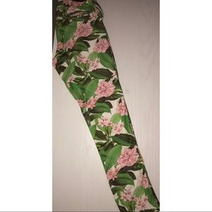 Zara Girls Floral Print Jeggings Size : 13/14
